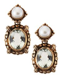 Stephen Dweck - White Pearl-bale Amethyst-drop Earrings - Lyst