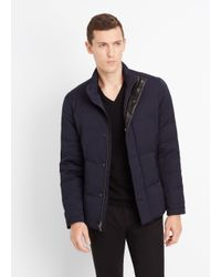 Vince Blue Heavy Twill Quilted Jacket for men