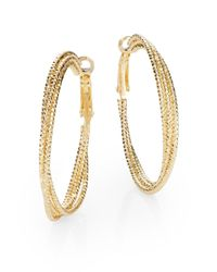 Saks Fifth Avenue | Metallic Triple Hoop Earrings/1.5"