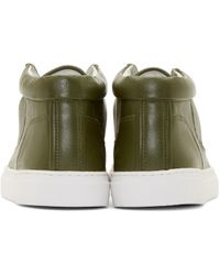ETQ Amsterdam Green Leather Mid 1 Sneakers for men