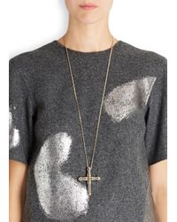 Givenchy | Metallic Silver And Gold Tone Cross Necklace | Lyst