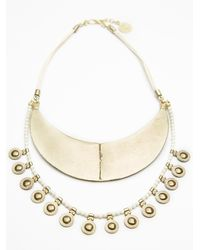 Free People - Metallic Womens Yilan Coin Collar - Lyst