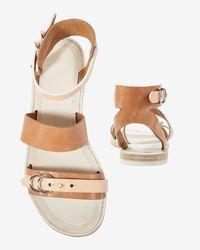 Rag & Bone | Brown Lara Flat Sandal | Lyst