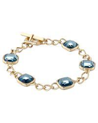 Michael Kors | Metallic Botanicals Stone Toggle Bracelet | Lyst