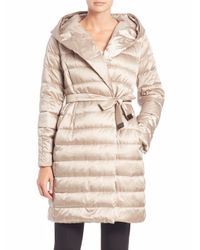 Max Mara - Metallic Cube Collection Novef Hooded Puffer Coat - Lyst