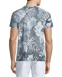 Sol Angeles Multicolor Palms-print V-neck Short-sleeve T-shirt for men