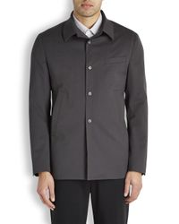 KENZO Gray Ash Brown Twill Jacket for men