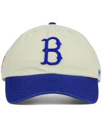 47 Brand Natural Brooklyn Dodgers Baseball United Clean Up Cap for men