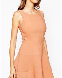 Closet | Orange Closet Panelled Skater Dress | Lyst