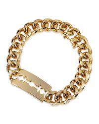 McQ Metallic Chunk Chain Large Razor-Blade Id Bracelet for men
