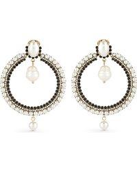 Givenchy - Black Pearl Hoop Earrings - Lyst
