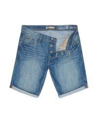 Blend - Blue Denim Shorts for Men - Lyst