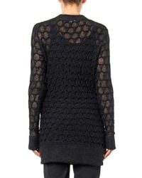Helmut Lang - Black Corded Lace-Knit Sweater - Lyst