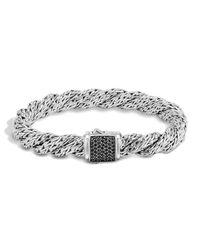John Hardy - Metallic Classic Chain Lava Medium Twisted Chain Bracelet - Lyst