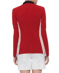 Akris Punto - Red Double-breasted Wool-blend Jacket - Lyst