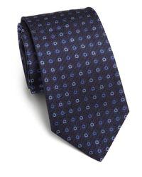 Ferragamo - Blue Gancini Woven Silk Tie for Men - Lyst