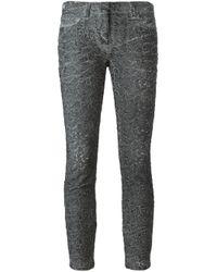 Faith Connexion - Black Cloqué Skinny Trousers - Lyst