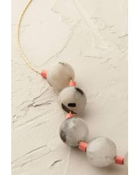 Anthropologie | Gray Marbled Quartz Necklace | Lyst