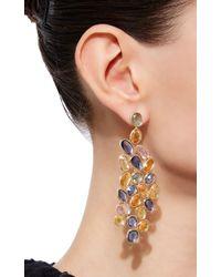 Sidney Garber - Multicolor Wave Of Sapphires Earrings - Lyst