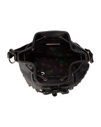 Betsey Johnson - Black Fringe Party Bucket - Lyst