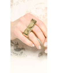 By Malene Birger - Metallic Klarinet Ring - Gold - Lyst