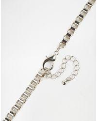 ASOS | Metallic Lightweight Box Chain Necklace for Men | Lyst