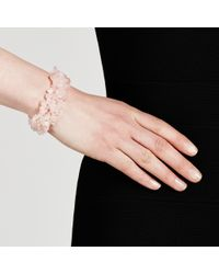 John Lewis | Pink Rose Quartz Stretch Bracelet | Lyst