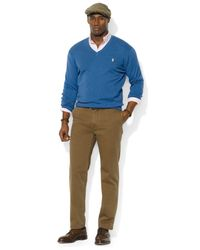 Polo Ralph Lauren - Blue Big And Tall Pima Cotton V-Neck Sweater for Men - Lyst