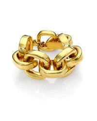 Vaubel Metallic Hammered Chunky Chain Bracelet