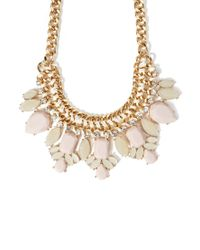 Forever 21 - Natural Faux Gem Statement Necklace - Lyst