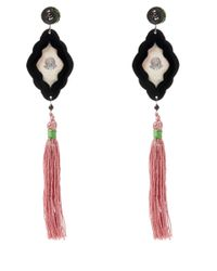 Anna E Alex - Pink Flamingo Safari Deco Wooden Earrings - Lyst