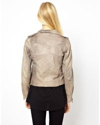 Doma Leather | Gray Arena Leather Jacket | Lyst