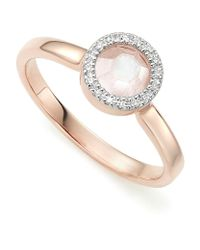 Monica Vinader | Metallic Diva Mini Circle Moonstone Ring | Lyst
