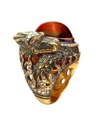 Queensbee - Metallic Dragon Year Ring - Lyst