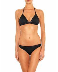 La Perla Black Kosmos Triangle Bikini Top