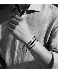 Monica Vinader - Black Baja Men'S Bracelet - Lyst
