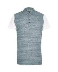 River Island - Blue Colour Block Polo Shirt for Men - Lyst