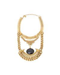 Ela Stone - Metallic Ronnie Onyx Collar Necklace - Lyst