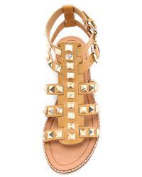 Rebecca Minkoff Metallic Sage Studded Gladiator Sandals