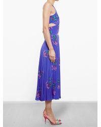 Tata Naka - Blue Printed Silk Georgette Dress - Lyst