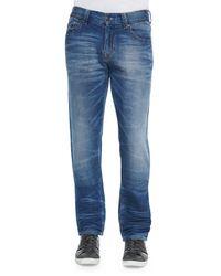 True Religion - Blue Geno Clear Waters Straight-leg Denim Jeans for Men - Lyst