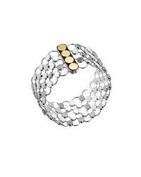 John Hardy - Metallic Gold  Silver Dot Link Bracelet - Lyst