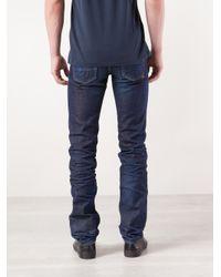 PRPS Blue Wrinkle Wash Jeans for men