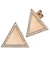 Alexa Leigh | Pink Large Triangle Earring, Rose Gold | Lyst