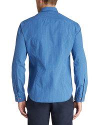 BOSS Green | Blue 'c-burke' | Regular Fit, Cotton Button Down Shirt for Men | Lyst