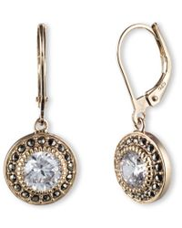 Judith Jack | Metallic Marcasite Drop Earrings | Lyst
