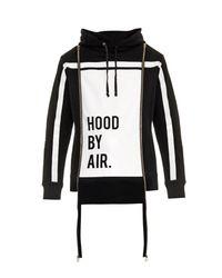 Hood By Air Black Horizon Striped Hooded Sweatshirt for men