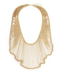 Saks Fifth Avenue - Metallic Graduated Chain Bib Necklace - Lyst