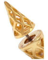 Noir Jewelry - Metallic Siouxsie Gold-tone Earrings - Lyst