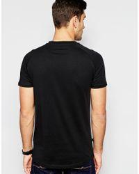 SELECTED | Black Longline T-shirt for Men | Lyst